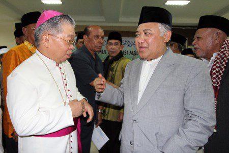 Din Syamsuddin dan Pastor