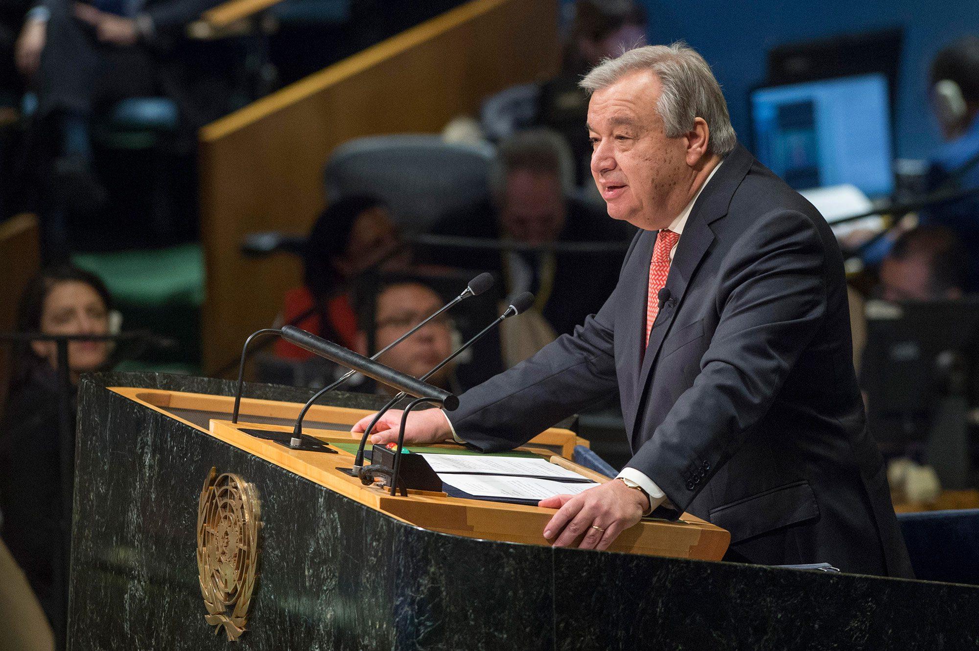 Antonio Gutteres Sekjen PBB